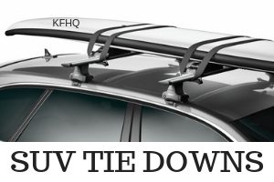 SUV kayak tie downs